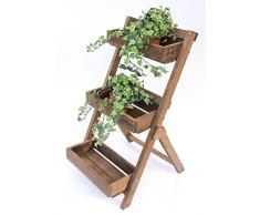 Flor etapa Fiora de madera 90 cm flores soporte para plantas de tela estante estante