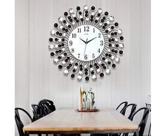 XIXIGZ Relojes De Pared Atmósfera Nórdica Moda Reloj Creativo Mudo Salón Decoración Reloj De Pared Reloj Europeo Personalidad Dormitorio Jardín Gráficos De Pared, 02
