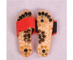 Zapatillas de Masaje de acupresión de Piedra de ágata de Piedra de ágata de adoquin Natural, Sandalias de reflexología terapéutica Masaje de acupresión de pies Alivio para el Dolor