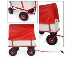 TecTake carro de mano Carretilla de transporte Carretilla de jardín con cubierta de lona