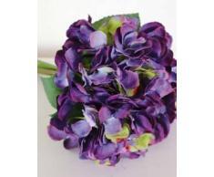 Decorativo ramo KLARA de hortensias, lila, 30 cm, Ø 18 cm - Flor sintética / Planta artificial - artplants