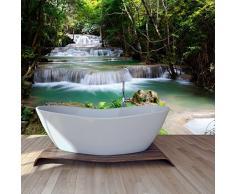Bosque tropical Cascada y río del paisaje de pared de la foto de fondo de pantalla disponible en 8 tamaños Extra pequeño Digital