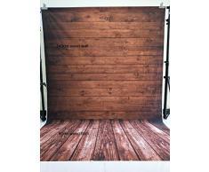 Konpon 150 x 220 cm marrón madera suelo algodón poliéster lavable a fondo para estudio de fotografía recién nacidos fondo de fotografía de estudios bebé accesorios boda Drop kp-388