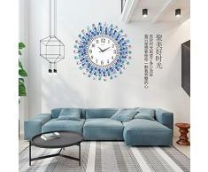 XIXIGZ Relojes De Pared Atmósfera Nórdica Moda Reloj Creativo Mudo Salón Decoración Reloj De Pared Reloj Europeo Personalidad Dormitorio Jardín Gráficos De Pared, 01