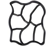 Xyfw Molde Path-Maker para Adoquines Y Pavimentos De Hormigón, Moldes para Piedras, Placas para Jardín, Terraza, Entrada, Remolques, Senderos De Patio, Ayudas para Caminar 2 Piezas