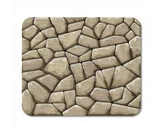 Alfombrillas de ratón Arcilla Roca Marrón Muro de piedra Material de ladrillo Adoquín Antiguo Alfombrilla de ratón abstracta para portátiles, computadoras de escritorio Alfombrillas de ratón, suminist