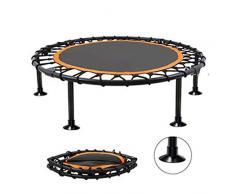 LOY Mini Rebounder Trampoline - Trampolín de Ejercicio Plegable para Interior/Exterior/jardín, Trampolín de Salto portátil,A