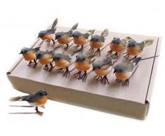 10pcs Robin pájaro árbol de Navidad decoración manualidades muy bonito Artificial de plumas