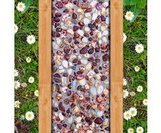 Lxsart Foto personalizada Papel tapiz de piso 3D Piedra de adoquín Camino pequeño Sala de estar Entrada Pasillo Pisos 3D PVC Mural autoadhesivo-400cmx280cm