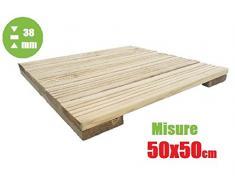 italfrom azulejo de exterior baldosa suelo jardín de madera de decking (50 x 50 x 3,8 cm)