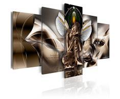 murando - Cuadro Buda 200x100 cm Abstracto - impresión de 5 Piezas - Material Tejido no Tejido - impresión artística - Imagen gráfica - Decoracion de Pared - Cascada h-A-0008-b-n