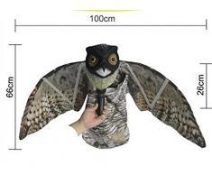 seicosy Bubo Pest Disuasión con alas de movimiento, realista Asustar Pájaros, roedores, Plagas, Espantapájaros, diseño de búhos Pest Control