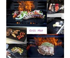 3 pcs Non Stick Parrilla Mat reutilizable para barbacoa Grill Y resistente al calor bbq horno forro liner mat FDA-certificada para barbacoa al aire libre de interior funciona