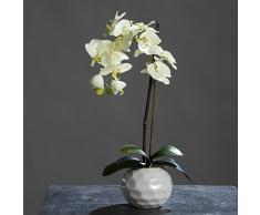 Phalaenopsis de la orquídea en maceta de cerámica color-verde 46 cm de la flor artificial por DPI
