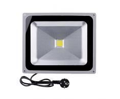 10x Jardín Foco Proyector Luz 50W 85-265V LED Blanco 6000-6500K 4000-4500 Lumen