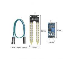 KKmoon 5pcs módulo de Sensor de Detección de Humedad Higrómetro la humedad del suelo sistema de riego automático para Arduino