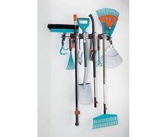 Gardena Combisystem 3501-20 - Portaherramientas, almacenaje compacto de las herramientas de casa y el jardín, apto para herramientas y accesorios combisystem, colgador mural de aluminio