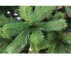 Árbol de Navidad artificial de 150 cm, 1,5 m de alta calidad, tipo abeto de Douglas, puntas y hojas de pino moldeadas por inyección perfecta de polietileno, sistema de apertura plegable, en color verde, incl. soporte de metal,