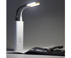 Daffodil LEC002 – Mini Lámpara LED USB – Linterna para Baterías Externas / Flexo para Teclados – Potente Lámpara de lectura USB – No necesita pilas – Compatible con PC & MAC