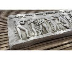 Placa de pared antigua romana (largo) a medida molde de piedra Jardín estatua/Escultura/adorno