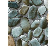 cabeza de piedra del adoquín 3D estereoscópica cultura fondo de pantalla de simulación de rock Rock Cafe paredes del hotel fondos de escritorio ( Design : 05 )