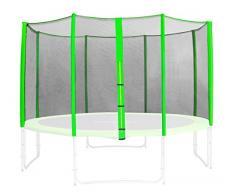 SixBros. Red de segurida verde para trampolín de jardín 1,85 M - 4,60 M - diferentes tamaños - SN-ON/1952 - Size 2,45 m 3L