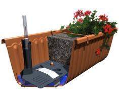 Schumm 1909029903 Siesta Lux - Jardinera para balcón con sistema de riego automático, color terracota