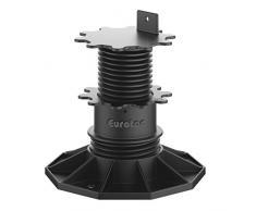 """Eurotec """"Eco L"""" Pedestal ajustable (de 6,5 hasta 13 cm) para suelo de terraza, Paquete de 20"""