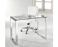 Escritorio de cristal compra barato escritorios de for Mesa ordenador cristal