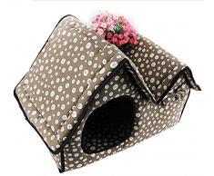 Demarkt Cama Para Mascotas Casa Perrito Gato Dog Bed House Pueden limpiarse con Cierre de Cremallera