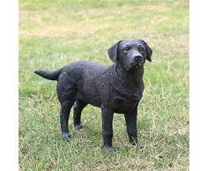 Esculturas Decoracion Moderna Pintado A Mano Vivid Resina Animal Craft Dog Negro Labrador Resina Figuras De Perro Resina Estatuas De Animales Para El Hogar Y Jardín Decoraciones Negro Estatuas