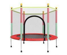 LOY Trampolín de Salto para niños - Trampolín de jardín/Patio Trasero al Aire Libre con Red de Caja de Seguridad, Mini trampolín de Ejercicio portátil
