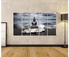 Cuadro Cuadros Impresión sobre lienzo - Formato Grande - Cuadros modernos Fuente de Buda Zen
