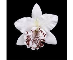 20pcs Flor Artificial Orquídeas Blanco Decoración para Hogar Boda 8cm