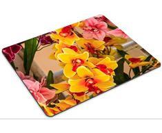 luxlady Caucho Natural Gaming Mousepads Ramo de hermoso Orquídea artificial Bloom Flores Imagen ID 26001262