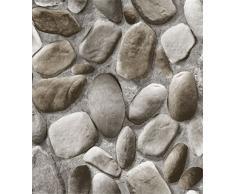 Papel pintado del adoquín de la simulación estérea 3D patrón de piedra papel de empapelar del fondo de la sala TV TV, B