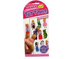 Marioneta del dedo de los Tatuajes Temporales con el pop a cabo teatro de marionetas - Princesa - Peaceable Kingdom