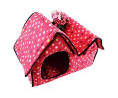 Demarkt Cama Para Mascotas Casa Perrito Gato Dog Bed House Pueden limpiarse con Cierre de Cremallera Color Rosa