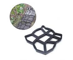 Luluspace - Molde para hormigón, Molde para encofrado, Molde de plástico para hormigón, jardín, Camino, Piedras, Parches de Piedra Natural, adoquines, Placas de terraza