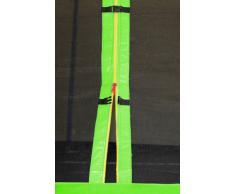 SixBros. SixJump 1,85 M Trampolín de jardín verde - Escalera - Red de seguridad - Lluvia cobertura - CST185/L1584