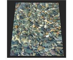 Piso mural 3d Foto 3d papel tapiz personalizado mural papel tapiz de pvc Agua clara adoquín baldosa 3D baño piso pintura 250X175CM