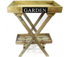 2 de madera estante plegable unidad de pantalla – jardín 78 cm atractivo en cualquier lugar en jardín