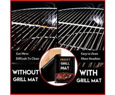 Parrilla Mat Resistente al calor Anti-stick reutilizables alfombras de barbacoa funciona en gas, carbón, parrillas eléctricas - 2 PCS