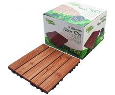 Greenblade BB-WD100 9 azulejos de suelo, madera, 30 x 30 x 0,22 cm