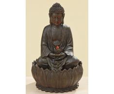 Fuente De Buda - Fuente buda H 52 cm con una luz LED y Bomba, Escultura viviente