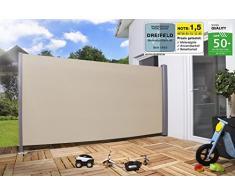 Toldo lateral Malla sombreadora Protector solar Protección contra el viento en diferentes tamaños antracita o beige