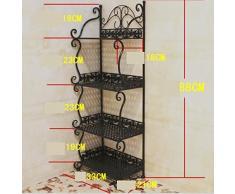 Acabado de hierro/Estantes de hierro forjado/estante del almacenaje del hierro/Cuarto de baño estante de esquina/estante del almacenaje de la cocina-A