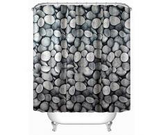 poliéster 3D cortina de piedra de adoquín Cortina de ducha de poliéster cortina de cortina de cortina de cortina de cortina de cortina (180 * 180cm) No oxidado