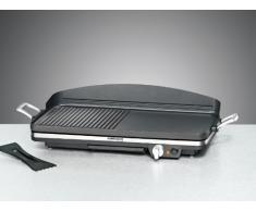 Rommelsbacher BBQ 2002 Parrilla Eléctrico - Barbacoa (Mesa, Negro, Rectangular, Aluminio)