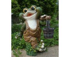 Diseño 2 quakender Frosch 40 cm Alto Decodificar Caracteres Jardín Gnome La Decoración Del Jardín